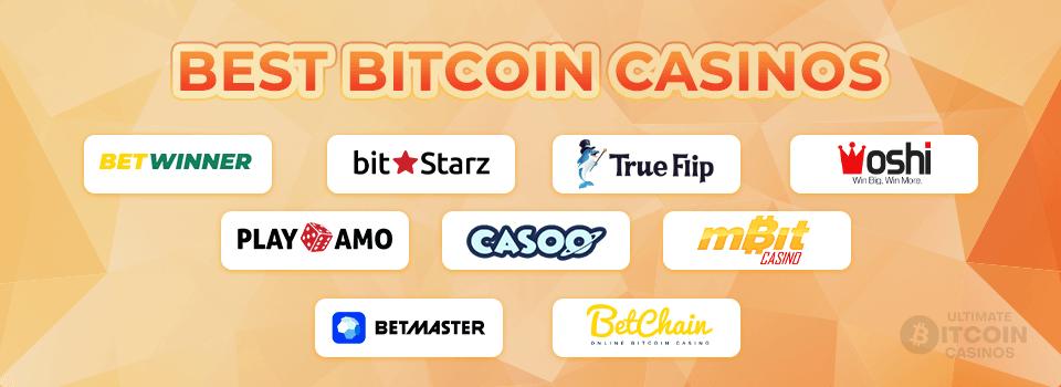 Best Bitcoin casino banner