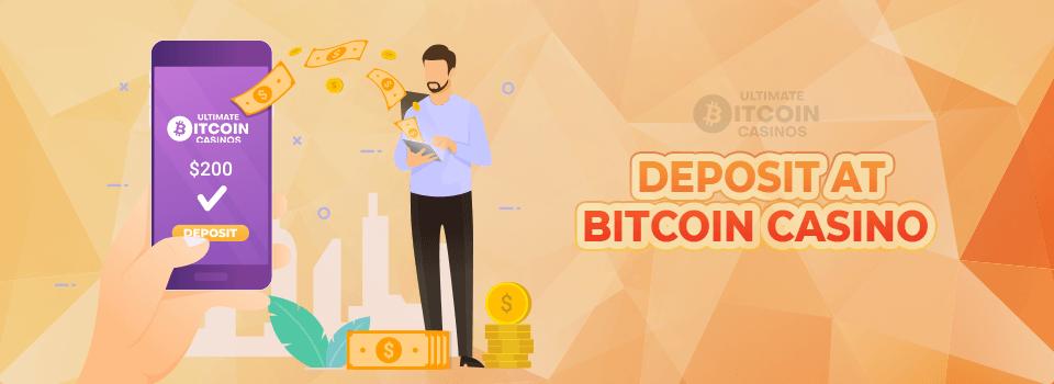 Deposit at Bitcoin casino banner