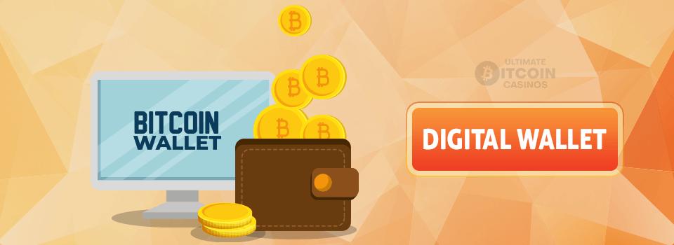 Digital bitcoin wallet logo